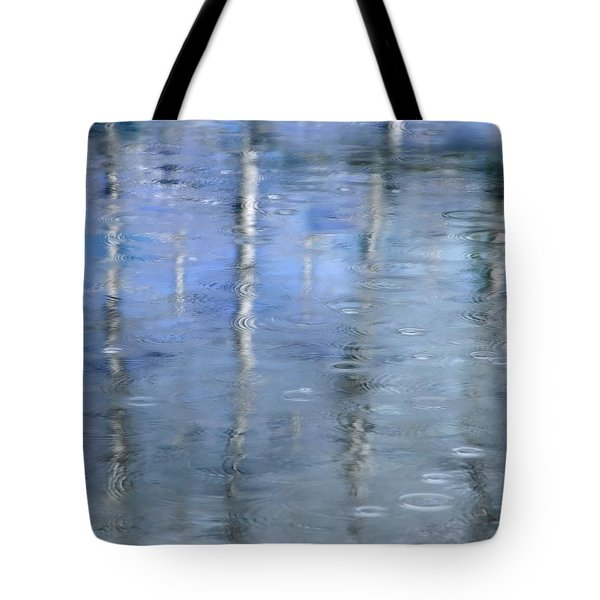 Raindrops On Reflections Tote Bag by KM Corcoran