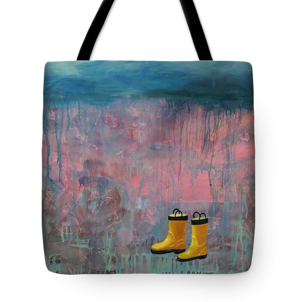 Rainy Day Galoshes Tote Bag