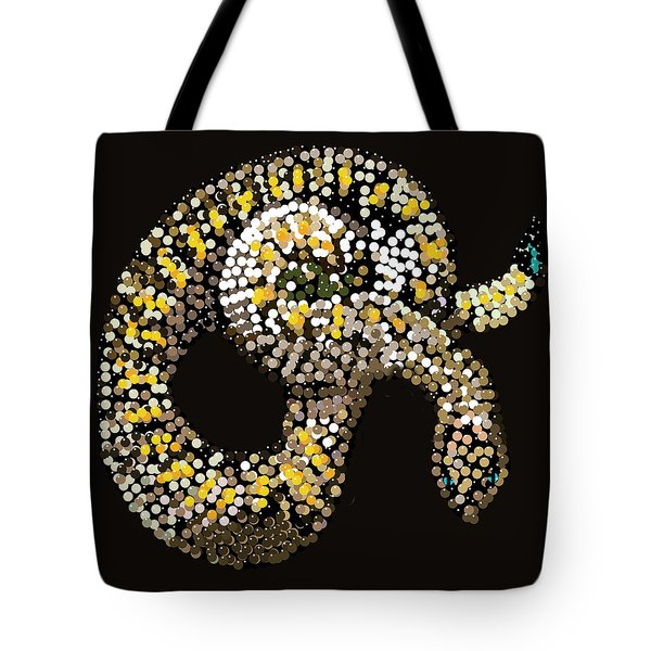 Rattlesnake Bedazzled Tote Bag