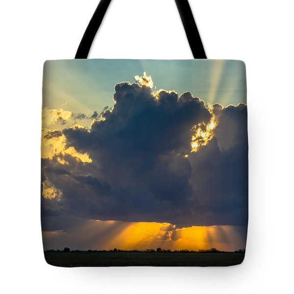 Rays From The Clouds Tote Bag