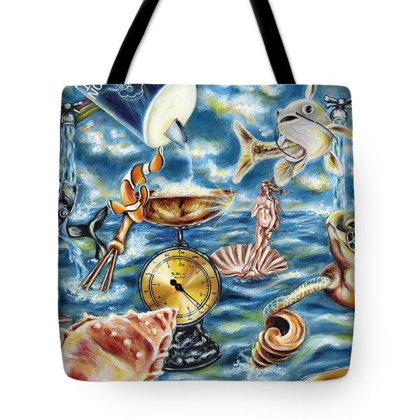 Tote Bag featuring the painting Recipe Of Ocean by Hiroko Sakai