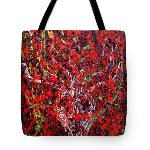 Tote Bag featuring the painting Recurring Face by Ryan Demaree