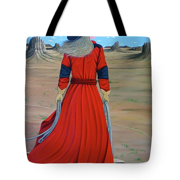 Red Tote Bag by Lance Headlee