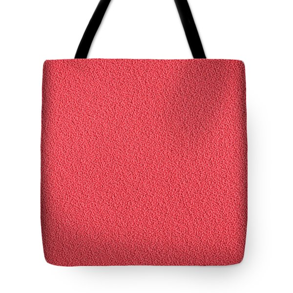 Red Material Tote Bag by Tom Gowanlock