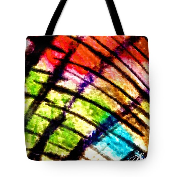 Tote Bag featuring the painting Red Reach by Joan Reese