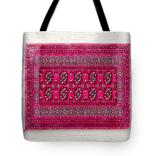 Red Rug Tote Bag by Tom Gowanlock