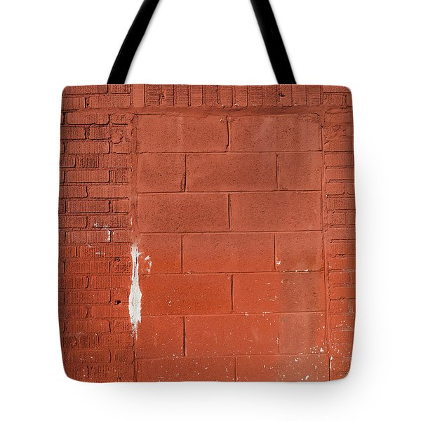 Red Wall With Immured Door Tote Bag