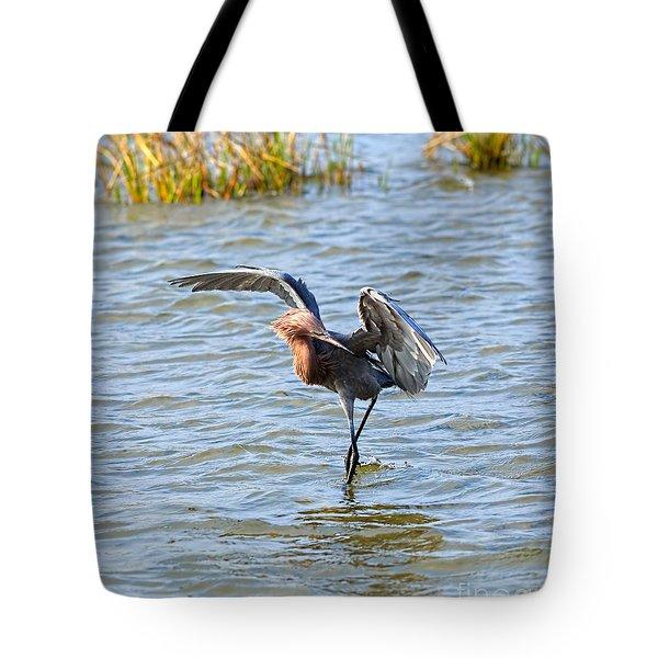 Reddish Egret Canopy Feeding Tote Bag
