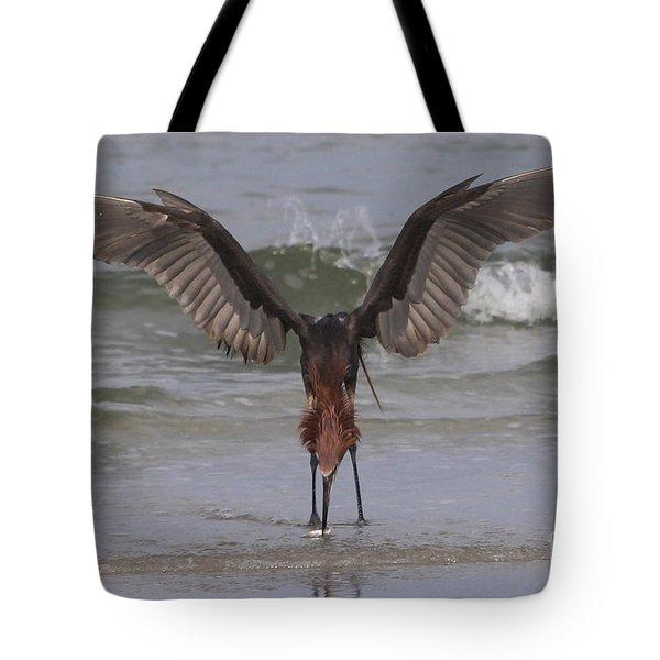 Reddish Egret Fishing Tote Bag