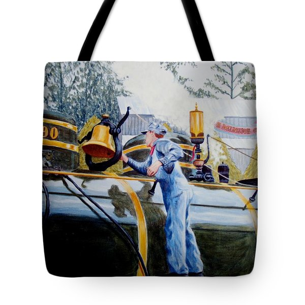 Tote Bag featuring the painting Reflecting On Tweetsie by Stacy C Bottoms