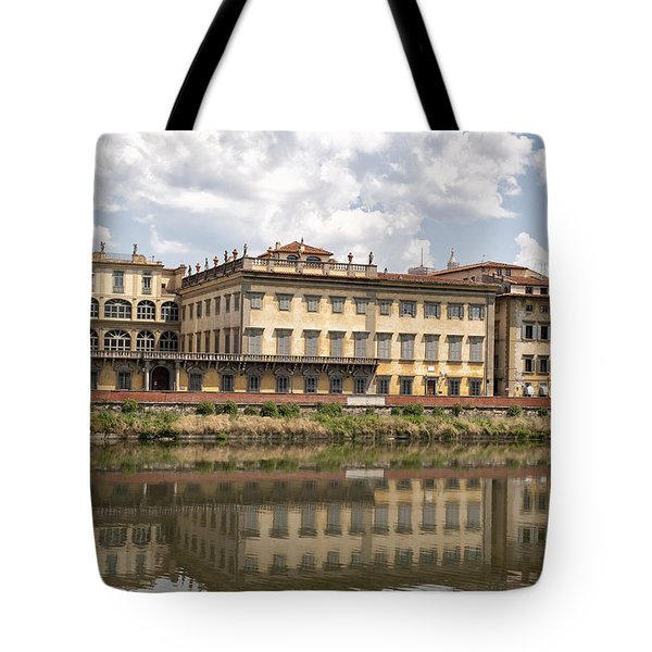 Reflections In The Arno River Tote Bag by Melany Sarafis