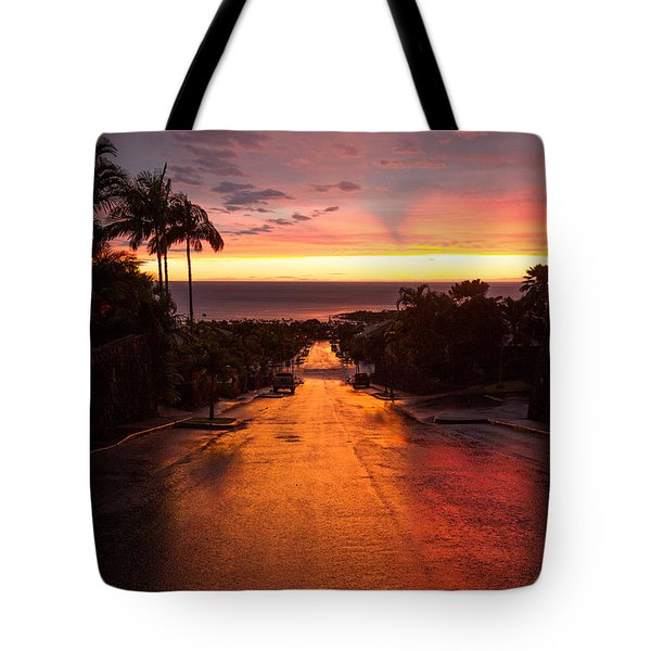 Sunset After Rain Tote Bag