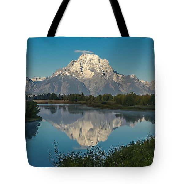 Reflections Of Mount Moran Tote Bag