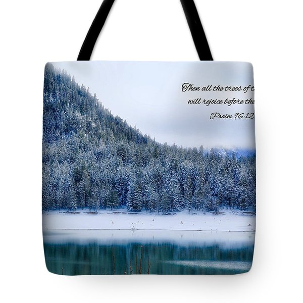 Rejoice Tote Bag by Lynn Hopwood