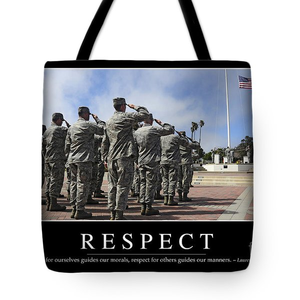 Respect Inspirational Quote Tote Bag by Stocktrek Images