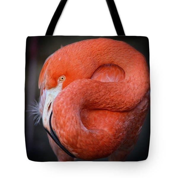 Resting Flamingo Tote Bag