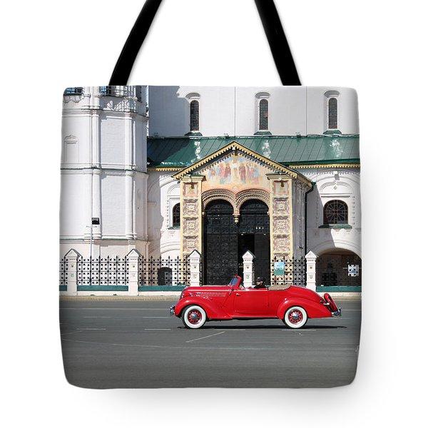 Retro Car Tote Bag by Evgeny Pisarev