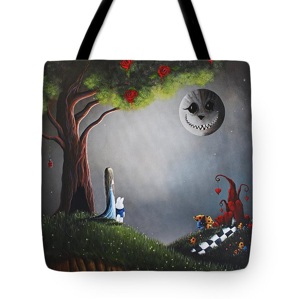 Alice In Wonderland Original Artwork Tote Bag