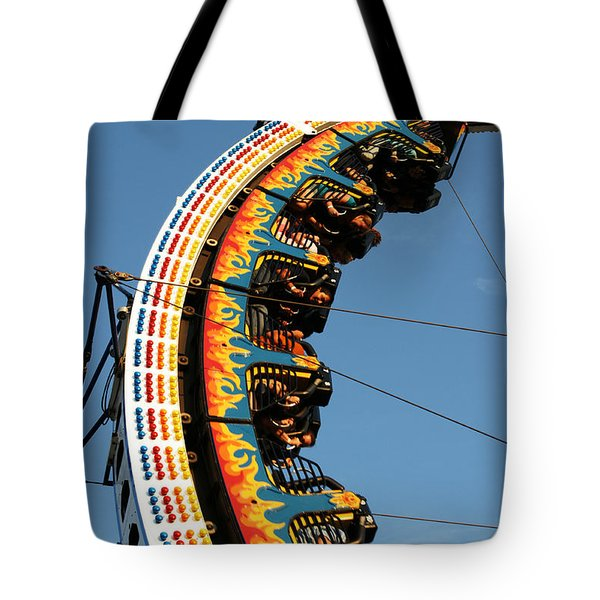 Tote Bag featuring the photograph Ring Of Fire by Linda Shafer