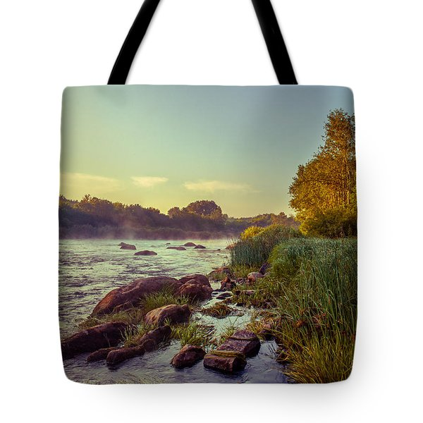 Tote Bag featuring the photograph River Stones by Dmytro Korol