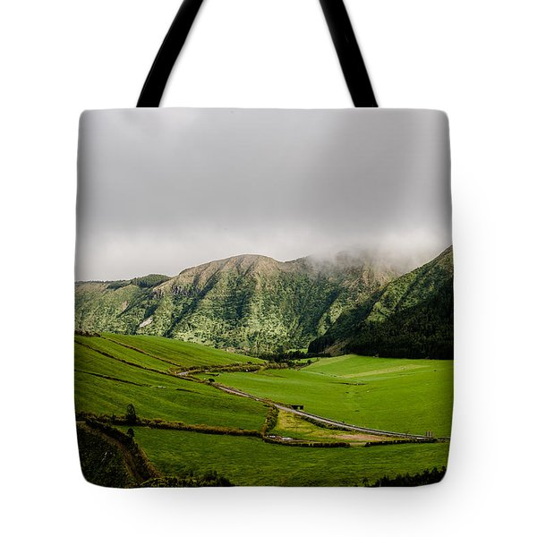 Road Over Valley Tote Bag