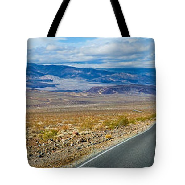 Road Passing Through A Desert, Death Tote Bag by Panoramic Images