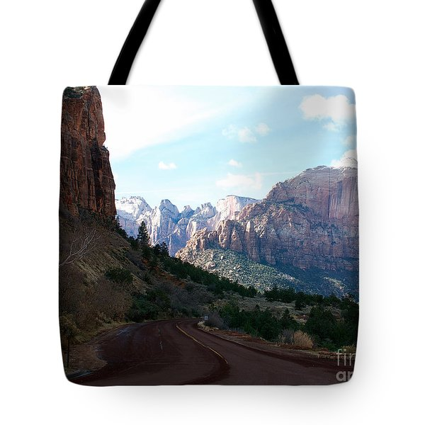 Road Through Zion National Park Tote Bag
