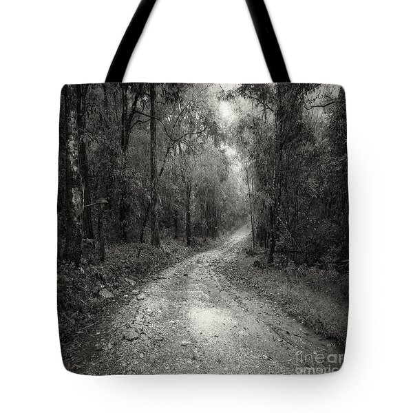 Road Way In Deep Forest Tote Bag