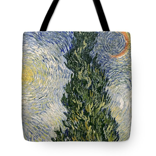 Road With Cypresses Tote Bag by Vincent Van Gogh