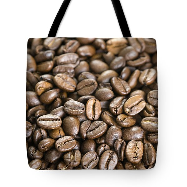 Tote Bag featuring the photograph Roasted Coffee Beans by Lee Avison