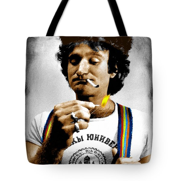 Robin Williams And Quotes Tote Bag