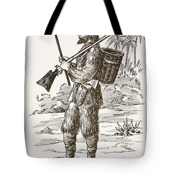 Robinson Crusoe, Illustration From The Tote Bag