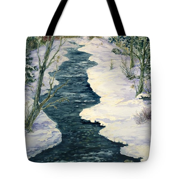 Rock Creek Winter Tote Bag