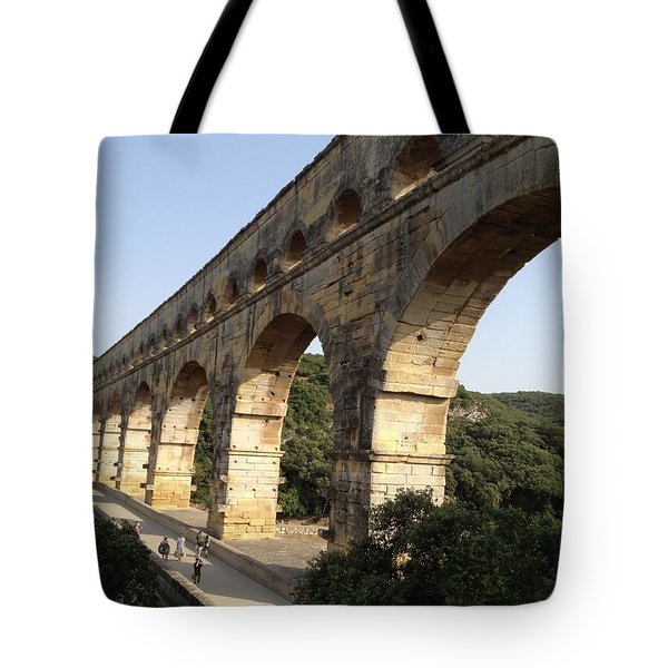 Roman Aqueduct Tote Bag by Pema Hou