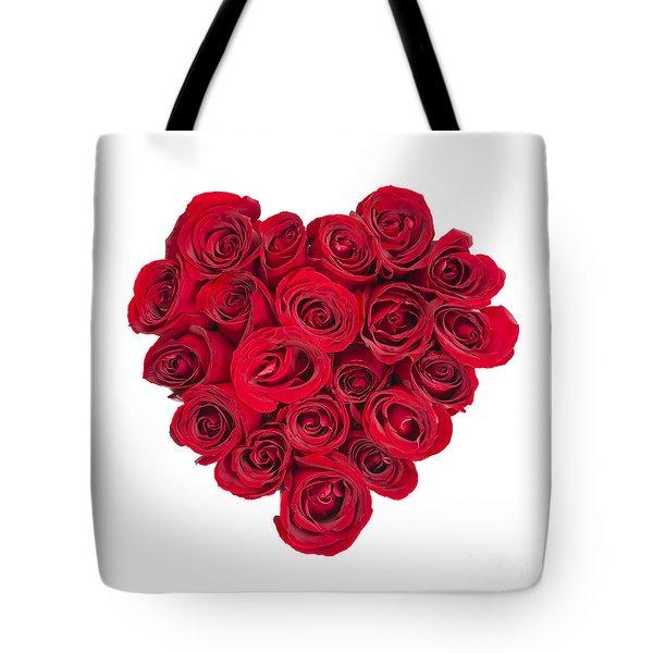 Rose Heart Tote Bag