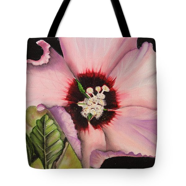 Rose Of Sharon Tote Bag by Karen Beasley