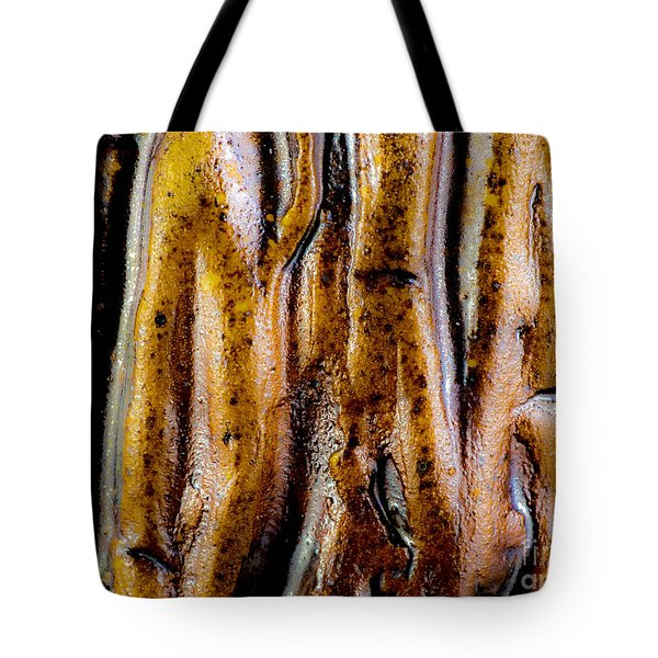 Rough Abstract Ceramic Surface Tote Bag by Kerstin Ivarsson