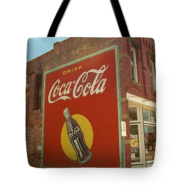 Route 66 - Coca Cola Ghost Mural Tote Bag