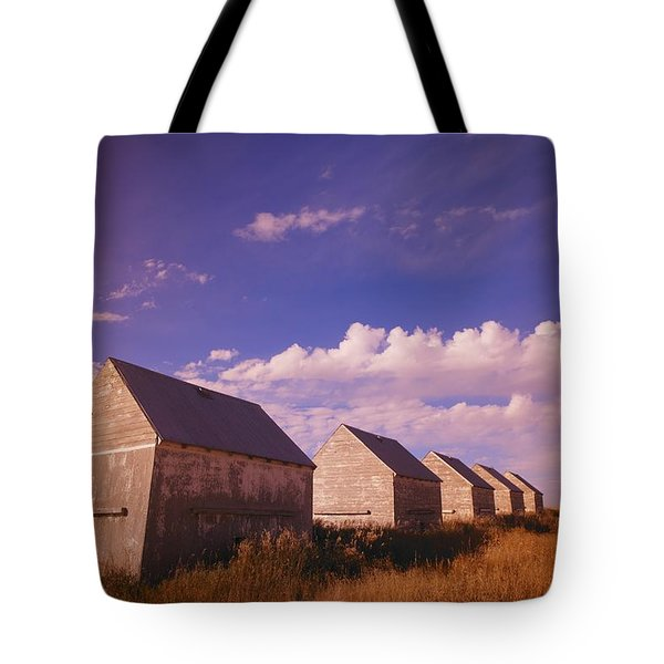 Row Of Old Farm Houses Tote Bag by Kelly Redinger