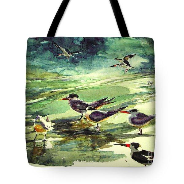Royal Terns And Black Skimmers Tote Bag