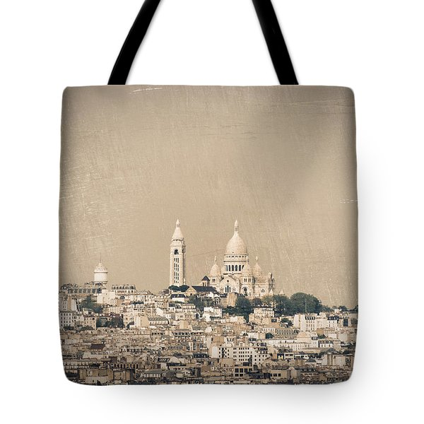 Sacre Coeur Basilica Of Montmartre In Paris Tote Bag