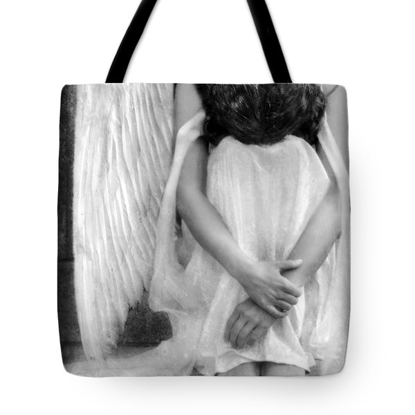 Sad Angel Woman Tote Bag by Jill Battaglia