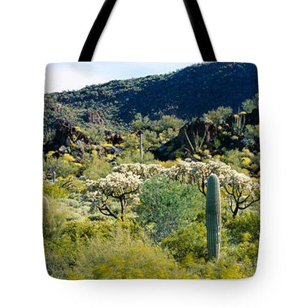 Saguaro Cactus Carnegiea Gigantea Tote Bag