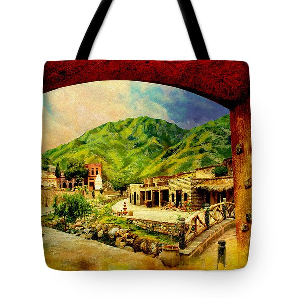 Saidpur Village Tote Bag by Catf