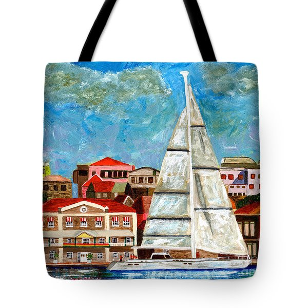 Sailing In Tote Bag by Laura Forde