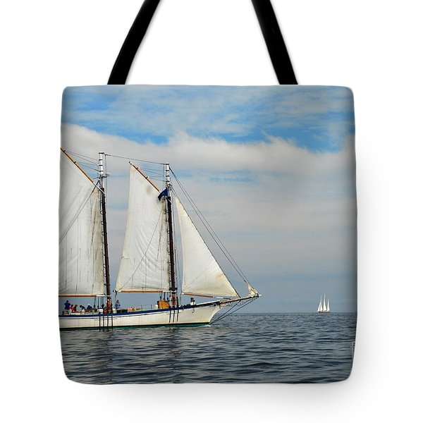 Sailing The Open Seas Tote Bag by Allen Beatty