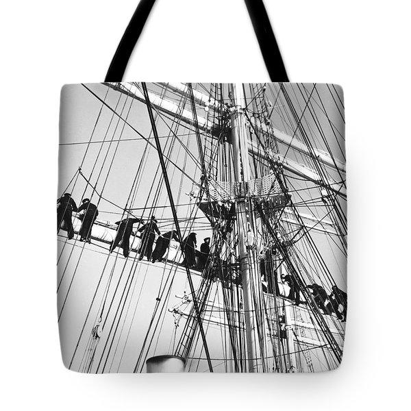 Sailors In The Rigging Tote Bag