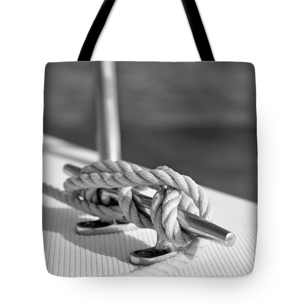 Sailor's Knot Square Tote Bag by Laura Fasulo