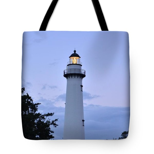 Saint Simons Lighthouse Tote Bag