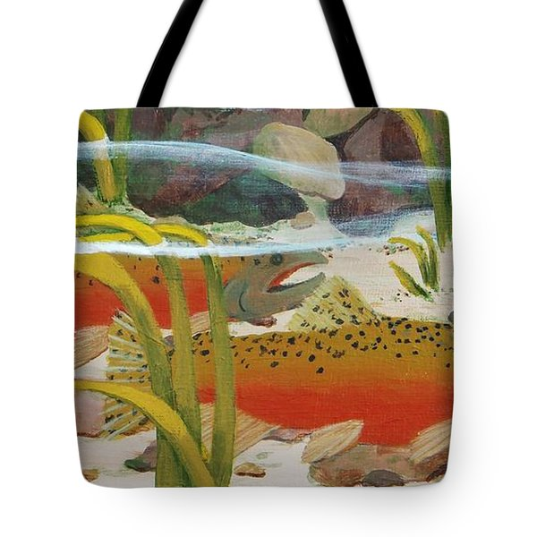 Salmon Tote Bag by Katherine Young-Beck
